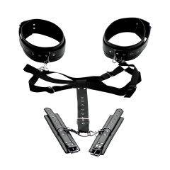 Master Series - Acquire Easy Access Thigh Harness With Wrist Cuffs