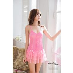 Anna Mu - Dancing Queen Chemise Pink