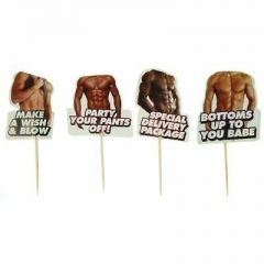 Little Genie - Hot Bod 24 Pack Toothpick Toppers Bachelorette Party